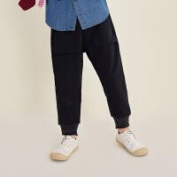 【1件5折后到手价:169.5元】马拉丁童装男童裤子秋装2019新款实用大口袋时尚收口休闲针织长裤
