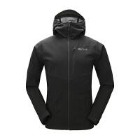 Marmot/土拨鼠运动户外软壳衣男款冬新品保暖防风连帽
