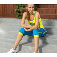 时尚运动休闲 广场舞服装健身操服 女套装健美操套装 女