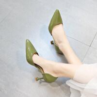 性感高跟单鞋女户外时尚百搭细跟尖头浅口女鞋子