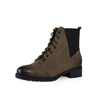 哈森旗下爱旅儿复古女鞋擦色帅气低跟方跟时尚休闲短靴EA61503