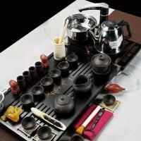 新款幽雅清香紫砂功夫茶具套装整套家用茶壶茶杯实木茶盘全套功夫茶具套装