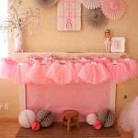 孩派 生日派对 婚礼花童装扮 儿童舞蹈表演 三层网纱裙