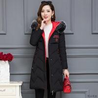 棉衣女冬装2018新款韩版加厚保暖过膝棉袄中长款毛领羽绒外套