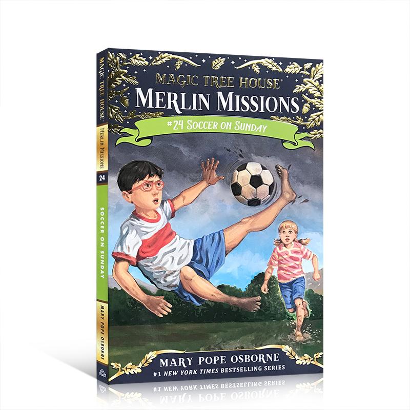 【顺丰速运】英文进口原版 神奇树屋52:周日足球赛 Magic Tree House #52: Soccer on Sunday 学生课外读物青少年桥梁冒险故事书7-12岁