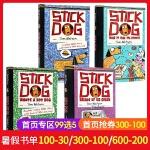 英文原版绘本 Stick Dog 5册合售 平装 美国进口 初级章节书 学生英语课外书 儿童文学