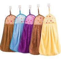 儿童可爱搽手巾挂式吸水擦手布小毛巾擦水抹布手帕5条厨房擦手巾