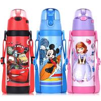 儿童吸管保温杯不锈钢学生水杯直饮杯宝宝便携双盖水壶