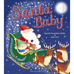 圣诞节绘本 英文原版3 6岁 Santa Baby 圣诞宝宝 大开本 儿童启蒙图画书 亲子学习绘本