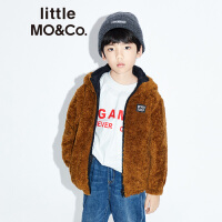 littlemoco秋季新品男童女童外套保暖仿羊羔毛双面可穿儿童外套