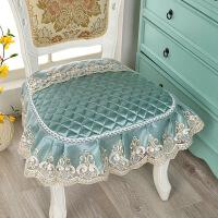 加大欧式坐垫厚布艺蕾丝四季防滑简约餐桌椅子垫子凳子座垫k