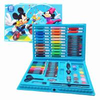 儿童绘画套装礼盒小学生画笔水彩笔绘画工具蜡笔画画生日礼物文具 86件套装【米奇】送涂色本