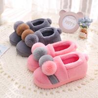 儿童棉拖鞋冬男女童宝宝室内居家包跟防滑保暖毛绒中大童亲子棉鞋