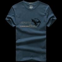 JEEP吉普短袖T恤男 2019春夏季新款男士长袖圆领套头卫衣打底衫 男装上衣宽松棉体恤