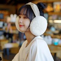 耳罩冬天冬季保暖时尚时装款格子小清新耳套耳包女生护耳朵耳捂子