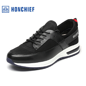 红蜻蜓旗下品牌  HONCHIEF男鞋休闲皮鞋秋冬休闲鞋子男板鞋 KTA1101