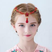 女童发饰额头链女孩公主儿童头饰花童演出吊坠首饰品