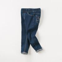 [2件3折价:92.1]davebella戴维贝拉kids童装春季新款裤子女中大童牛仔裤DBK10667