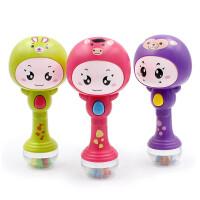 0-1岁婴幼儿玩具声光音乐摇铃 新生儿手摇铃节奏棒沙锤