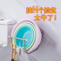 壁挂脸盆架不锈钢免打孔卫生间置物架浴室吸壁式放洗脸盆收纳架子
