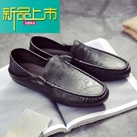 新品上市18新款春季豆豆鞋男懒人鞋青年韩版套脚鞋休闲鞋一脚蹬