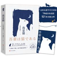 """我是猫(精美四色插图521条完整注释 日本""""国民大作家""""夏目漱石成名作)"""