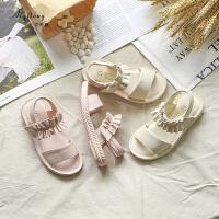 女童凉鞋夏季小女孩公主鞋软底防滑沙滩鞋