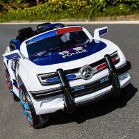 儿童电动车警车可坐人玩具汽车宝宝电瓶车大四轮汽车遥控车双驱动