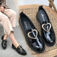 英伦风女士原宿chic单鞋 新款一脚蹬平跟软妹女鞋子 ins复古小皮鞋女