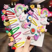 韩国儿童发饰可爱彩虹棒棒糖发夹刘海夹女童小女孩发卡夹子一字夹