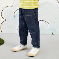 【5折券预估价:166.05元】马拉丁童装男大童裤子春装2020年新款休闲百搭宽松儿童牛仔裤