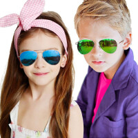 儿童太阳镜 男女童偏光太阳镜男女孩蛤蟆镜8-15岁小孩子墨镜