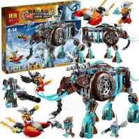 10297气功传奇 象女王的寒冰机器猛犸象拼装积木玩具