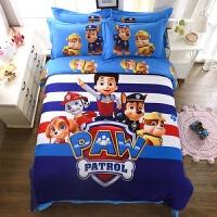 卡通全棉三四件套男女孩床上用品儿童纯棉套件床单被套单人床