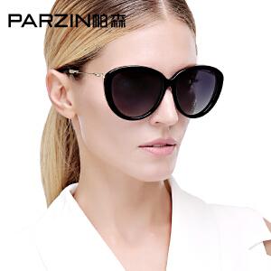 帕森猫眼偏光太阳镜 潮女士时尚大框金属镜腿驾驶镜墨镜9619