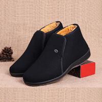 老北京布鞋男棉鞋中老年冬季加绒保暖爸爸鞋套脚老人加厚舒适棉靴