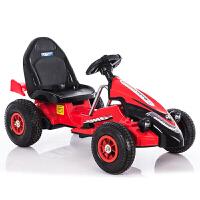 卡丁车儿童儿童电动车四轮卡丁车可坐男女宝宝遥控玩具汽车充气轮小孩摩托车ZQ222 黑色遥控款 两用1-8岁【充气轮】