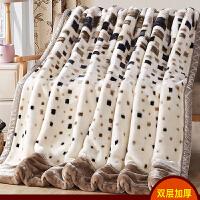 珊瑚绒毯子冬季加厚法兰绒毛毯男学生单人宿舍保暖女冬用被子双层q 双层加厚200X230cm 约9斤