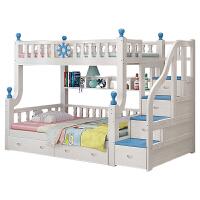 上下床床实木两层床上下铺高低床地中海双层床 梯柜款 上铺宽1.4米下铺宽1.6米 其他