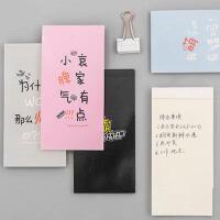 个性文字便签本空白页随身便携记事手账小本子学生日韩文具