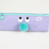 麦和MH1602-662小表情三角笔袋紫色创意文具帆布笔盒文具袋韩式风格大中小学生幼儿园男女孩办公开学用品收纳文具存储