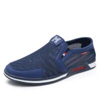 男网面鞋男鞋夏季男透气鞋子爸爸鞋一脚蹬老北京布鞋男士网鞋