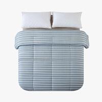 当当优品棉花双人冬被 全棉双层纱新疆棉花被芯200x230cm被子 静水条(蓝)