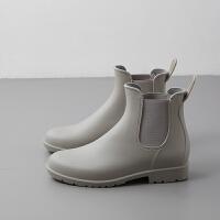 雨鞋女成人短筒雨靴夏季防水套鞋低�洼p便防滑女式短水靴�z鞋水鞋