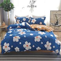 床上四件套棉卡通简约ins公主风少女心网红床单被套四件套k