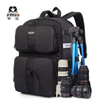 申派休闲双肩摄影包 数码相机包佳能尼康帆布单反包户外旅行背包 SY09双肩摄影包
