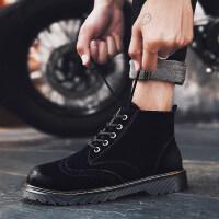 马丁靴高帮短靴百搭工装男鞋2018新款男靴冬季靴子男韩版潮流中帮