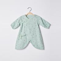 【2件3折 到手价:29】CHULFVEAN初纺 2019年夏 新生儿和尚服 婴儿薄款纱布和尚服连体衣