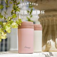 日本shinpur 象普精致迷你保温杯女可爱316不锈钢日系水杯便携小巧茶杯小容量