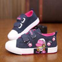 儿童帆布鞋子女童单鞋中大童学生休闲鞋宝宝鞋